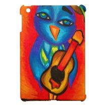 Owl playing guitar iPad mini cases