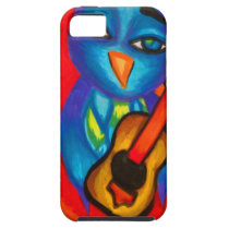 Owl playing guitar iPhone SE/5/5s case