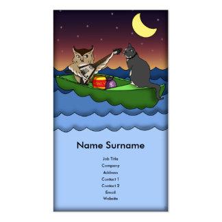 Owl Plus Pussycat, business card template