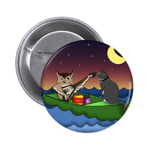Owl Plus Pussycat, button