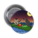 Owl Plus Pussycat, button 2 Inch Round Button