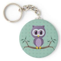 Owl Polka Dot Keychain