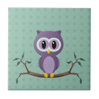 Owl Polka Dot Tile