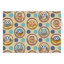 Owl Polka Dots Print