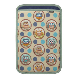 Owl Polka Dots Print MacBook Sleeves