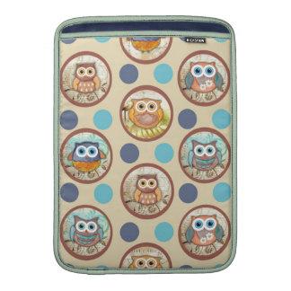Owl Polka Dots Print MacBook Air Sleeves
