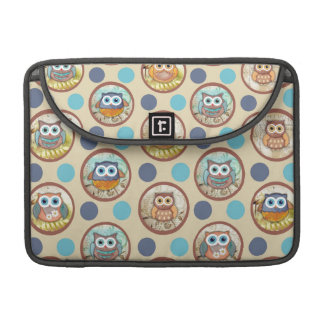 Owl Polka Dots Print MacBook Pro Sleeve