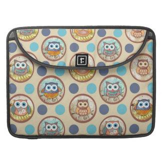 Owl Polka Dots Print MacBook Pro Sleeves