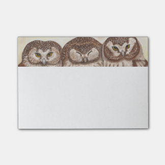 Owl post it note pad post-it® notes