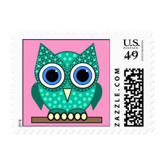owl postage stamp