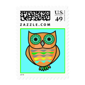 Owl Postage Stamps