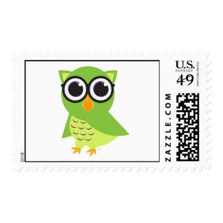 Owl Postcard Stamp