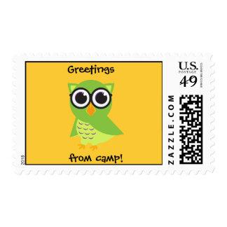 Owl Postcard Stamp