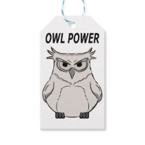 owl power gift tags
