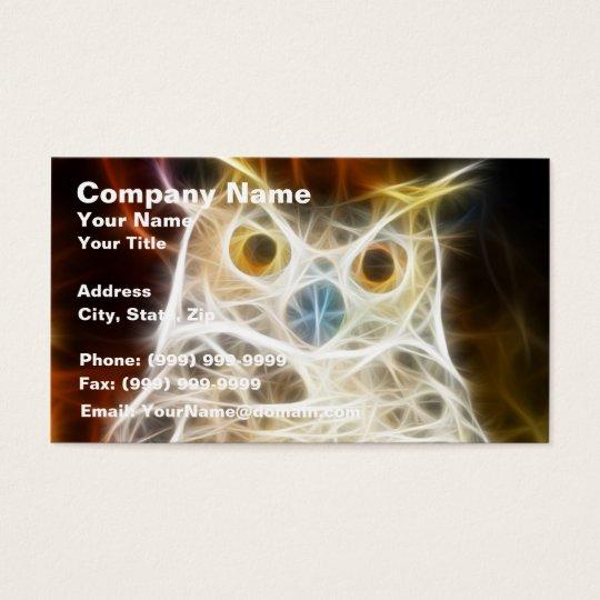Owl Powerful Look Business Card