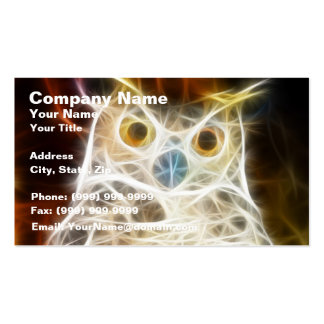 Owl Powerful Look Business Card Template