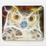 Owl Powerful Look Mouse Pad