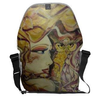 owl princess messenger bag