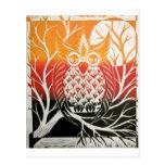 Owl Print copy Postcard