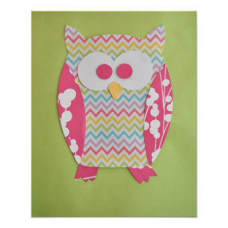 Owl Print for baby nursery or child s room