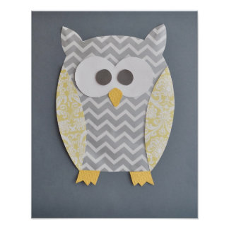 Owl Print for baby's nursery or child's bedroom