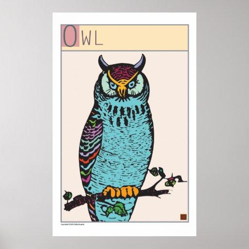Owl-Print Poster