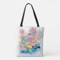 Owl Print. Tote Bag