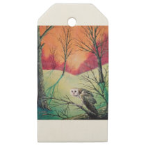 """Owl Products featuring """"Soren: Owl of Ga' Hoole"""" Wooden Gift Tags"""