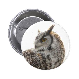 Owl Profile Portrait Photo Pin
