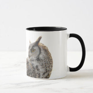 Owl Profile Portrait Photo Mug