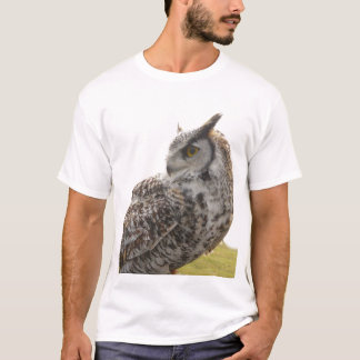 Owl Profile Portrait Photo T-Shirt