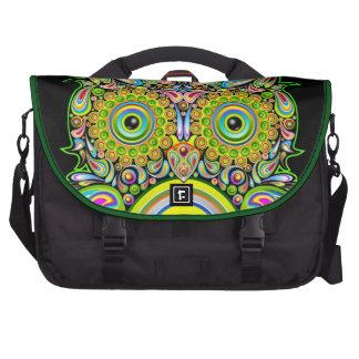 Owl Psychedelic Art Design Laptop Bag