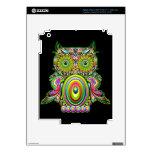 Owl Psychedelic Design iPad 3 Skin