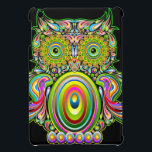 "Owl Psychedelic Design iPad Mini Case<br><div class=""desc"">Psychedelic,  colorful and Decorative Owl Design</div>"