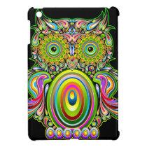 Owl Psychedelic Design iPad Mini Case