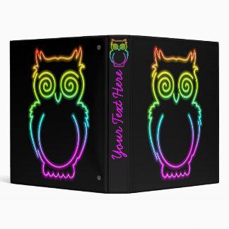 Owl Psychedelic Neon Light Binder