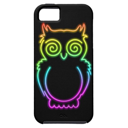 Owl Psychedelic Neon Light iPhone 5 Case Vibe