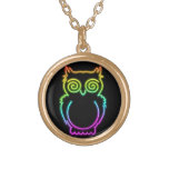 Owl Psychedelic Neon Light Necklace