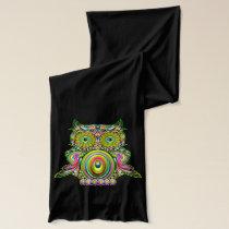 Owl Psychedelic Pop Art Scarves