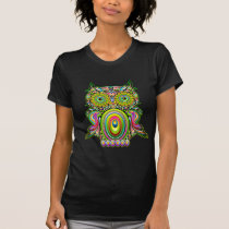 Owl Psychedelic Pop Art T-Shirt