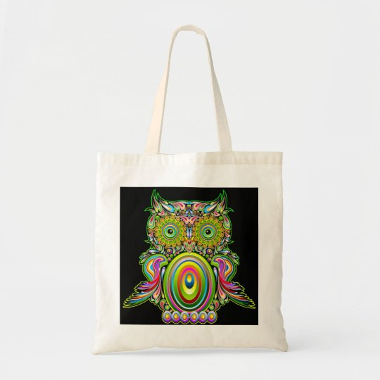 Owl Psychedelic Popart Bag