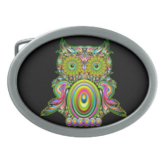 Owl Psychedelic Popart Belt Buckles