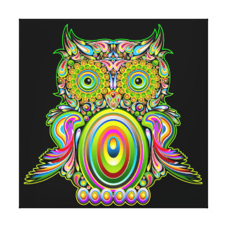 Owl Psychedelic Popart Canvas Canvas Prints