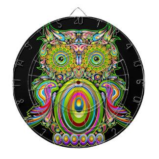 Owl Psychedelic Popart Dartboard