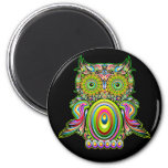 Owl Psychedelic Popart Magnet