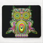 Owl Psychedelic Popart Mousepad