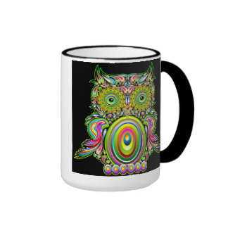 Owl Psychedelic Popart Mug