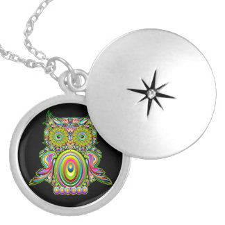 Owl Psychedelic Popart Necklace