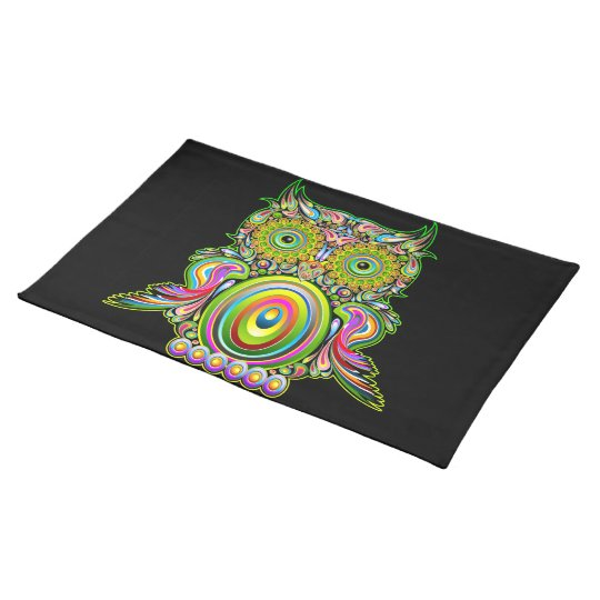 Owl Psychedelic Popart Placemats