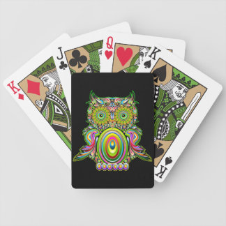 Owl Psychedelic Popart Playing Cards